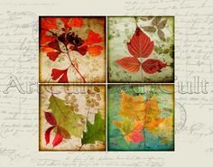 AUTUMN  38x38 inch Images for Coasters/ Greeting cards von ArtCult, $4.90