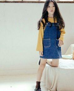 Cute Asian Babies, Korean Babies, Asian Kids, Cute Babies, Kids Outfits Girls, Kids Girls, Girl Outfits, Cute Fashion, Kids Fashion