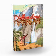 Yellowstone National Park Vintage Poster Award