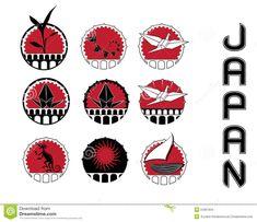 символы японии конструкции культуры Иллюстрация штока - иллюстрации насчитывающей backhoe, изверг: 24367934 Symbol Logo, Akita, Decoration, Playing Cards, Symbols, Japan, Inu, Logos, Image
