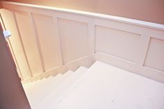 Painted Basement stairs with board and batten (18 of 26) by Unskinny Boppy, via Flickr