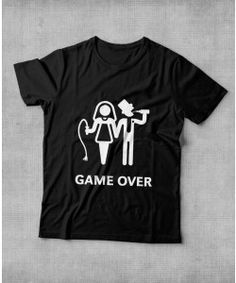"Camiseta ""Game Over-Bebendo"" para Despedida de Solteira"