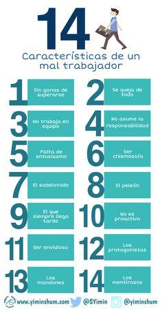 14 características de un mal trabajador. Tips para sobresalir en tu empleo.