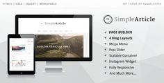 Download – Simple Article v1.0 – WordPress Theme For Personal Blog This WordPress theme Simple Article v1.0 is a minimal designed for blogger. This theme provides many features that blogger will love it Like Sticky post, Social share in each post, many post formats such as Video, Audio, Soundcloud(audio), Gallery as grid or slider or …