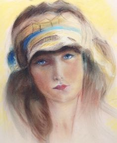 "Study of Rolf Armstrong's ""Jewel Flowers""... pastels"