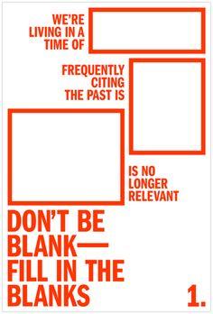 Don't Be Blank (Marina Mills Kitchen)