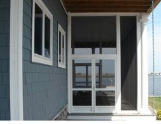 A100 Double-French Doors w/ Astragal... screened w/ Super Screen