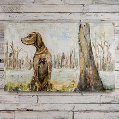 Sarah Robertson Good Boy Dog Painting