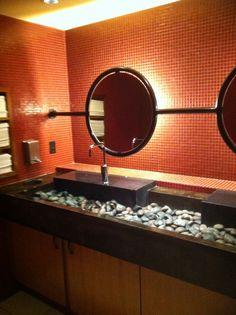 Neat bathroom idea!