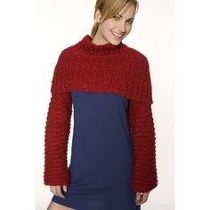Crocheted Candy Apple Shrug (Crochet) - Lion Brand Yarn