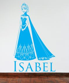 Elsa, from the Disney movie Frozen  Wall Sticker/Decal - available in a great range of colours!
