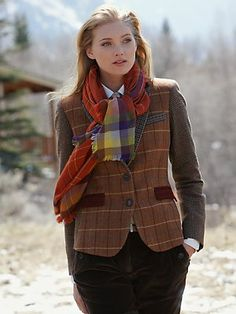 Love the tweed and scarf