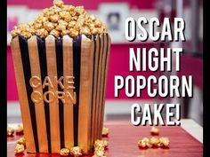 How To Make a POPCORN BOX CAKE for OSCAR NIGHT! Vanilla & Chocolate Cake with Gold Caramel Popcorn! - YouTube