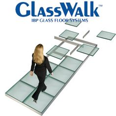laminated glass floor system this is the ibp structural glass flooring system installed to allow lig Glass Block Shower, Glass Floor, Floor Design, House Design, Walking On Glass, Glass Bridge, Casa Loft, Glass Structure, Laminated Glass