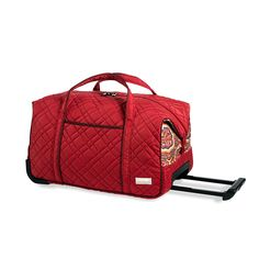 Carry-On Rolly Duffle, Amore   http://www.bonkersforbags.com/cinda-b-carry-on-rolly-duffle-bag?variantId=1009