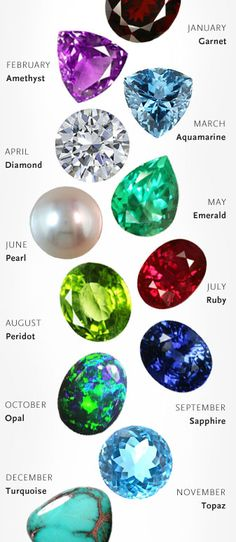 All the beautiful birthstones togehter  Your Birthstone at http://AstleyClarke.com - find out everything you need to know in the new gemstone miscellany  #birthstones #birthdaygifts