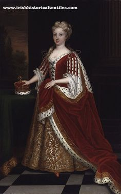"""In 1726, six years after writing the  Proposal, Swift made a presentation of some pieces of silk, which had been processed in Ireland (probably by Hugenots in Cork), to Caroline, Princess of Wales (pictured) and to her lady-in-waiting, Mrs. Henrietta Howard. A letter accompanied the gifts, which said:  """"I beg you will not tell any parliament man from whence you had that plaid; otherwise, out of malice, they will make a law to cut off all our weavers' fingers."""" #textile #history #ireland"""