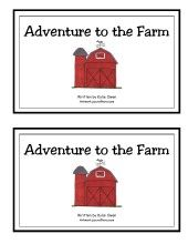 farm printables for pocket chart and more