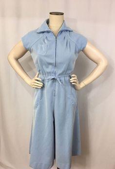 Vintage Jonathan Logan Romper Jumpsuit Culottes Rockabilly Striped Size 10 #JonathanLogan #Jumpsuit