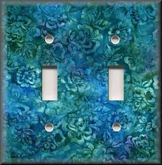 Switch Plates And Outlet Covers - Batik Floral - Blue Green - Home Decor  #LevitonLunaGallery
