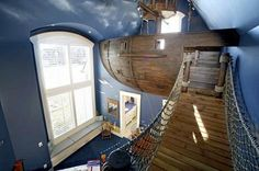 How awesome would it be to have a pirate ship playhouse in a bedroom?Credit to Kuhl Design Build. - Home Decor For Kids And Interior Design Ideas for Children, Toddler Room Ideas For Boys And Girls Home Decor Instagram, Pirate Bedroom, Pirate Nursery, Cool Kids Rooms, Design Blogs, Design Ideas, Home Decor Online, Awesome Bedrooms, Best Interior Design
