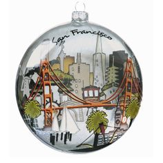 San Francisco City Glass Ornament