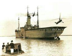 Auto giro de la Cierva en pruebas navales en el Dédalo