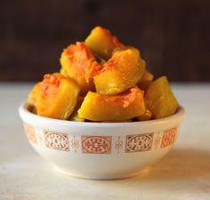 Kabocha Squash with Ginger (Chao Nan Gua) simple vegan recipe - can also use butternut pumpkin