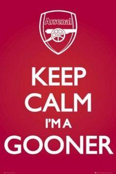 (24x36) Arsenal FC Keep Calm I'm a Gooner Sports Poster Print