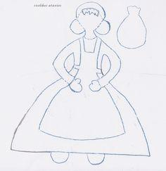 Η ΚΥΡΑ ΣΑΡΑΚΟΣΤΗ     ΥΛΙΚΑ:  *χαρτόνι κανσόν απλό  *χαρτόνι κανσόν καρό  *χαρτόνι οντουλέ  *μαρκαδόρος μ... Carnival Crafts, Cinderella, Disney Characters, Fictional Characters, Disney Princess, Blog, Art, Greek, People