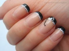 Day 7: Black and White Nails - Essie Sugar Daddy, Gina Tricot Black and Gina Tricot Salt & Pepper