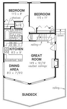 Nice Floor Plan Sleeping Loft With Storage Upstairs But No 1 2 Bath Plans Pinterest Lofts And