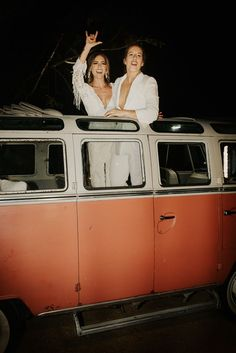 This couple rode away in a vintage van   Image by Map + Compass Photography Wedding Trends, Wedding Blog, Wedding Styles, Wedding Day, Map Compass, Bridal Jumpsuit, Bohemian Wedding Inspiration, Vintage Vans, Wedding Matches