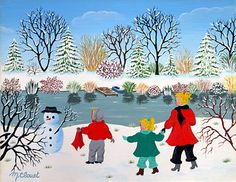 The Snowman's Scarf by Martine Clouet
