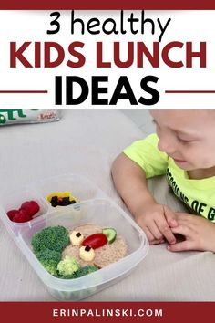 Planning back to school lunches? Check out 3 healthy kids lunch ideas in this post! You'll find creative school lunches that will make your kiddos smile and fuel their growing bodies. Creative School Lunches, Back To School Lunch Ideas, Healthy Lunches For Kids, Healthy Family Meals, Good Healthy Recipes, Top Recipes, Snack Recipes, Snacks, Kid Friendly Dinner