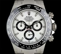 Rolex Unworn Cosmograph Daytona Stainless Steel White Dial Ceramic Bezel B&P Oyster Perpetual Cosmograph Daytona, Rolex Cosmograph Daytona, Rolex Oyster Perpetual, Rolex Daytona, Rolex Watches For Men, Men's Watches, Used Rolex, Rolex Models, Tom Ford Men