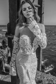 julie vino a j designers bridal s2017 off the shoulder long sleeves sweetheart deep plunging neckline full embellishment sexy…
