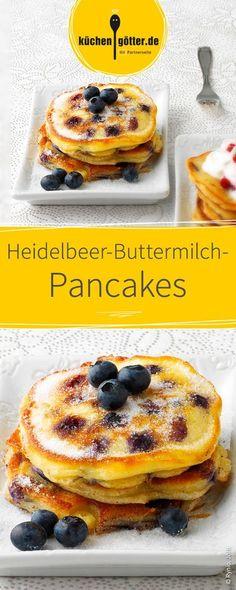 Fluffige Pancakes mit frischen Heidelbeeren und dem mild-säuerlichen Geschmack der cremigen Buttermilch. Ein Rezept für die Götter!