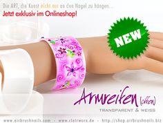 Armreif mit Airbrush veredelt - Bangle/Bracelet with Airbrush Airbrush, Bangle Bracelets, Bangles, Starter Set, Glitter, Diy, Jewelry, Bangle Bracelet, Ear Piercings