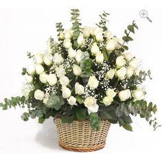 Arreglo de rosas blancas