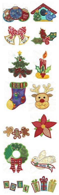 Embroidery | Free Machine Embroidery Designs | Jumbo Patchwork Christmas Applique by Michael Bien