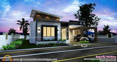 Kerala low budget house plans with photos free beautiful 12 House Plans With Photos, New House Plans, Small House Plans, Beautiful Small Homes, Beautiful House Plans, Low Budget House, House Design Pictures, Modern Bungalow House, Mediterranean House Plans