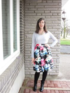 The Frugal Fashionista: Floral Skirt