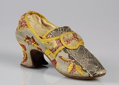 Shoes - silk 1760-1780 british - MMA Accession Number: 2009.300.4132