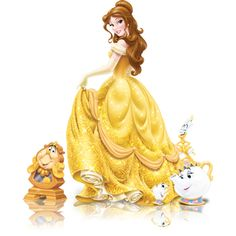 Belle ❤ liked on Polyvore featuring disney, beauty and the beast, cartoon and princess