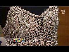 Top de Crochê Cropped Aprendendo Crochê- bikini handmade - YouTube
