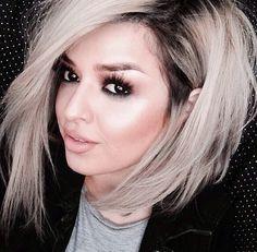 Dirty blonde with dark regrowth.
