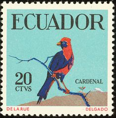 Masked Crimson Tanager stamps - mainly images - gallery format