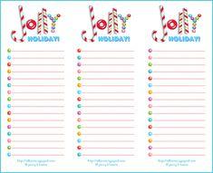 Printable Christmas List Template Freebie Fridaya Printable List For Your Jolly Holiday  Nice .