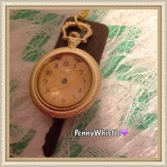Gorgeous Vintage Gold Pocket-Watch Replica Visit my shop...https://www.facebook.com/pages/PennyWhistle-Handcrafted-Vintage-Stamped-jewelry-accessories/189228934535729?ref=bookmarks